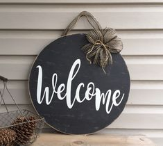 Excited to share the latest addition to my #etsy shop: Welcome Door Hanger, Front Door, Rustic, Farmhouse, Hello Wood sign, Welcome sign, Housewarming Gift, Mothers Day Gift, Porch sign, Hello