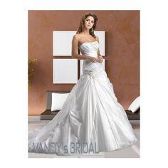 2013 Ball Gown Sweetheart Neckline Sleeveless Chapel Train White... via Polyvore