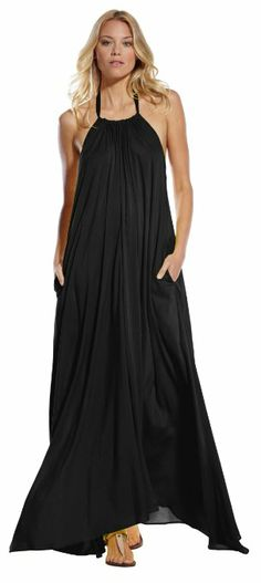 0a14a06760 An Elan Usa Maxi Halter Tie Flowy Long Dress available at Apricot Lane  Center Valley in