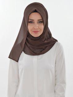 Practical Chiffon Shawl, Ready Turban, Hijab, Tesettur, Shawl, PS-0011 Brown by MelikesDesign on Etsy