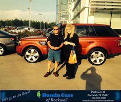 https://flic.kr/p/HoXZf5 | Congratulations Desilario on your #Land Rover #Range Rover Sport from Justin Miller at Honda Cars of Rockwall! | deliverymaxx.com/DealerReviews.aspx?DealerCode=VSDF