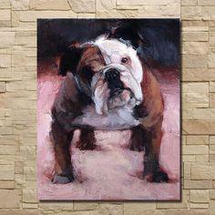 English Bulldog Oil Painting