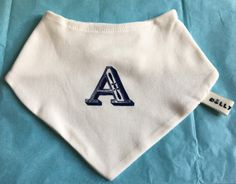 Screen printed Initial Bib by DollyOliveShop on Etsy Handmade Baby Gifts, New Baby Gifts, Congratulations Gift, Organic Baby Clothes, Newborn Baby Gifts, Baby Shower Gifts, Screen Printing, New Baby Products, Initials