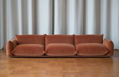 The Marenco sofa was designed in 1970 by Mario Marenco. The sofa features a fully removable cover system. Base in multi plywood with fibre cover. Backrests and armrests: main structure in metal. Sofa Design, Design Furniture, Sofa Furniture, Living Room Furniture, Interior Design, Furniture Dolly, Furniture Market, Furniture Layout, Furniture Outlet
