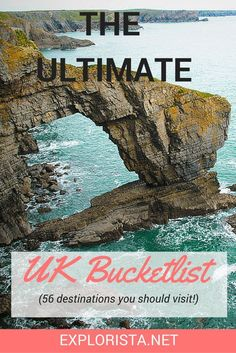 The Ultimate UK Bucket List: 57 Dreamy Destinations Soon I will be making some road trips through the country! This is the ultimate Great Britain bucket list: 56 dream places you should not miss. Cool Places To Visit, Places To Travel, Places To Go, Sightseeing London, London Travel, Uk Bucket List, Travel Bucket Lists, Moving To England, Travel England