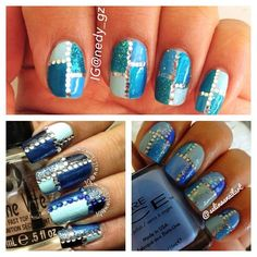 Love the top photo. Gonna try with foil lined n studs on ring fingers  only..beautiful