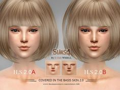 The Sims Resource: H.S ND skintones 2.0 by S-Club • Sims 4 Downloads