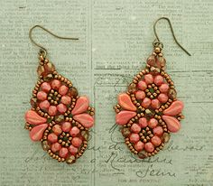 Linda's Crafty Inspirations: Arabesco Earrings - Rose Luster