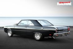 With on tap, Con Sagiaris's black beauty VG Valiant hardtop is a street and strip monster Australian Muscle Cars, Aussie Muscle Cars, Dodge Muscle Cars, Plymouth Scamp, Chrysler Valiant, Big Girl Toys, Chrysler Cars, Automotive Art, All Cars