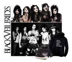 """My Love For BVB Will Forever Remain Eternal"" by bvbarmy-jaseyrae ❤ liked on Polyvore featuring Converse and Glit"