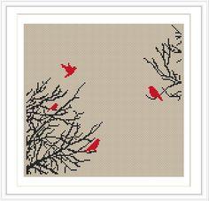 Bird Tree Cross stitch pattern cross stitch par MagicCrossStitch
