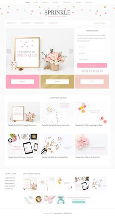 Sprinkle Girly Blog WordPress Theme - WPExplorer