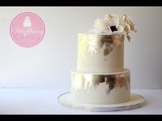 How to Create an Antique Silver Leaf Effect on Cake - YouTube