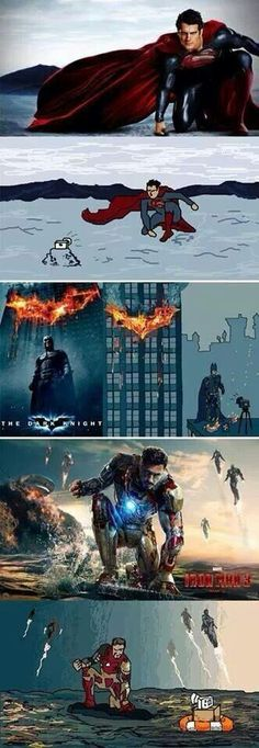 Superman, Batman, IronMan selfies... :)