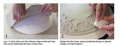Textured bisque mold that mimics a thrown piece - ceramics art daily