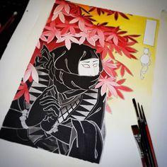 Getting there :) #ukiyoe #ninja #shinobi #tattoo #tattoos #tattooart #amsterdam #tattooamsterdam #amsterdamtattoo #japanesetattoo #japanesetattoos #orientaltattoo #orientaltattoos #tattooart #orientalart #japaneseart
