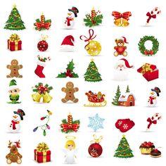 Beautiful Christmas Icons - Vector