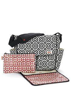 Skip Hop Dash Messenger Diaper Bag In Nixon Black By Jonathan Adler Jonathan Adler, Messenger Diaper Bags, Nappy Bags, Abc For Kids, Shops, Wet Bag, Kids Bags, Changing Pad, Online Bags