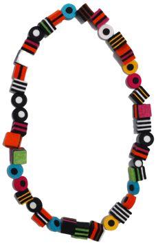 "Danielle Gori-Montanelli (IT) - ""licorice"" felt necklace"