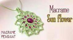 Macrame pendant tutorial: The sun flower - Simple macrame idea craft