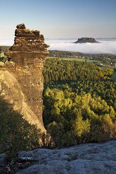 Morning On the Rocks, Saxon Switzerland, Germany