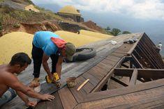 В Колумбии жилые дома строят из использованных шин: фото