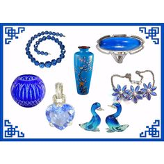 Blue Fashion Trends by rubylaneinc on Polyvore