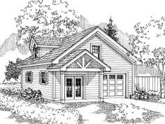 Plan 051G-0024 - Garage Plans and Garage Blue Prints from The Garage Plan Shop