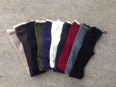 Lace Trim Boot Socks