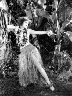Hula (1927) Clara Bow #vintage #tiki #hawaii