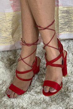 $59.90 - Red Strappy Block High Heel Sandals. Beautiful heeled shoes with straps #highheels #hothighheels #heelsoftheday #heelslover #heelsaddict #heels #sandalsheels #shoes #sandals #pumps #pumpshoes #shoesaddict #shoestagram #womenshoes #redheels  #redshoes Red Block Heel Sandals, Strappy Sandals, Block Heels, Red Sandals, Pump Shoes, Shoes Heels, Pumps, Red Heels, Stiletto Heels