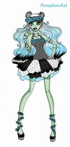 Frankie Stein- Pastel Goth Style by PersephoneKat.deviantart.com on @deviantART