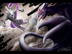 (armored) Mewtwo and XD001 (AKA Shadow Lugia)