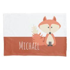 Cute Fox Illustration Pillowcase Nov 25 2016 @zazzle #junkydotcom