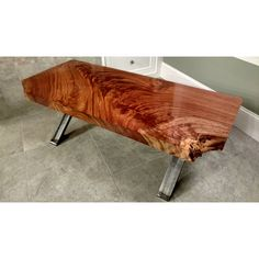 Jatoba Slab Coffee Table With Custom X Base ($1,500) ❤ liked on Polyvore featuring home, furniture, tables, accent tables, grey, home & living, slab table, gray table, grey furniture и grey coffee table
