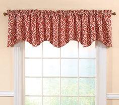 Curtain & Bath Outlet -  Bryce Rust Heavy Chenille Curtain Valance
