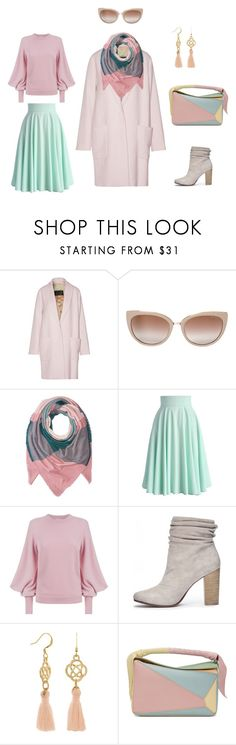 Pastel by irina-semenkova on Polyvore featuring мода, Ted Baker, By Malene Birger, Chicwish, Chinese Laundry, Loewe, Jimmy Choo and Coach