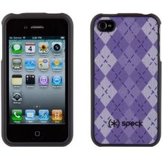 Amazon.com: Speck Fitted Case for Apple iPhone 4 - Purple Argyle: Electronics