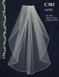 Affordable Elegance Bridal - Beaded Pearl Wedding Veil JL Johnson Bridal C383, $117.99 (http://www.affordableelegancebridal.com/beaded-pearl-wedding-veil-jl-johnson-bridal-c383/)