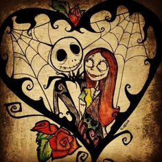 *JACK SKELLINGTON & SALLY ~ The Nightmare Before Christmas, 1993 ....Simply meant to be!