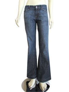"Citizens of Humanity ""Faye"" Dark Wash Full Leg Jeans"
