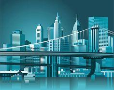 Image result for manhattan bridge graphic