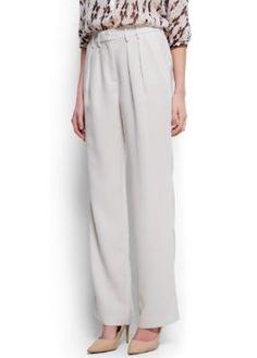 Mango Women's Straight-Cut Crepé Trousers, Neutral, S Neutral S MANGO. $59.99
