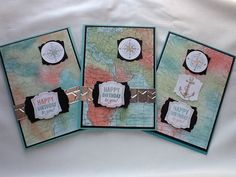 World map, stampin' Up! Www.stampingjoy.blogspot.com