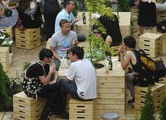 The Pond: Urban Backdrop for Temporary Bar | INDESIGNLIVE