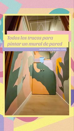 Aprende a pintar un mural de pared con todos los trucos y consejos posibles #murals #muralart #colorful #color #muralpainting #colorfulwallart #wallartdecor #wallmural #interiordesignideas #paredespintadas Painting, Home Decor, Colorful Houses, Painted Walls, Pinterest Board, Learn To Paint, Hacks, Tips, Creativity