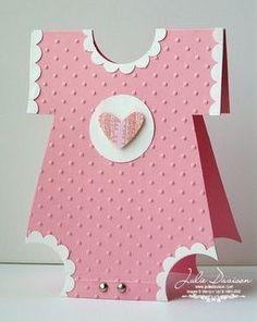 Julie's Stamping Spot -- Stampin' Up! Project Ideas by Julie Davison: Onesie Baby Shower Card