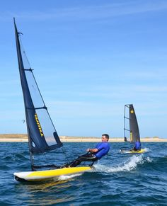 This ultra-high-performance, inflatable sailing dinghy weighs only 111 pounds and packs neatly into two bags that fit in most car trunks