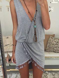 V neck Women Summer Dress Sheath Daily Sleeveless Boho Dress  dress  date   holiday dd1f6413b