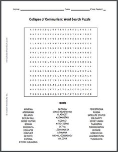 Chinese communist revolution word search puzzle for high school collapse of communism word search puzzle free to print pdf file fandeluxe Choice Image